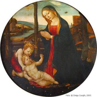 """""""Madonna con Bambino e San Giovannino"""" di Sebastiano Mainardi o Jacopo del Sellaio"""